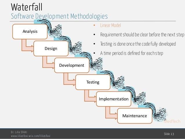 MedTech Waterfall Analysis Design Development Testing Implementation Maintenance Dr. Lilia SFAXI www.liliasfaxi.wix.com/li...
