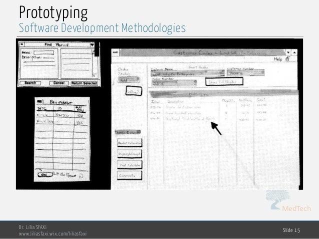 MedTech Prototyping Dr. Lilia SFAXI www.liliasfaxi.wix.com/liliasfaxi Slide 15 Software Development Methodologies