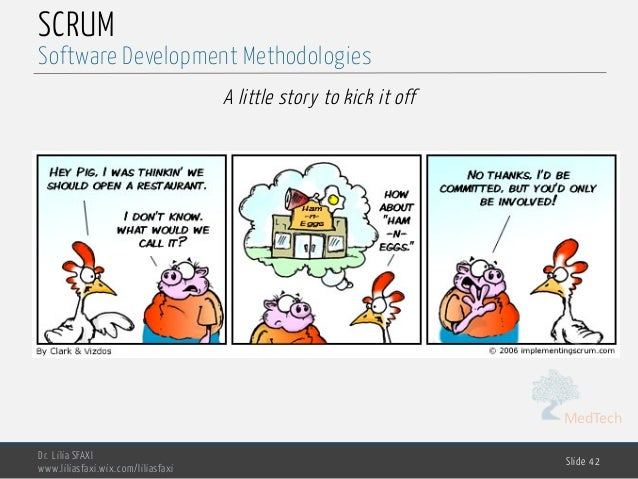 MedTech SCRUM A little story to kick it off Dr. Lilia SFAXI www.liliasfaxi.wix.com/liliasfaxi Slide 42 Software Developmen...