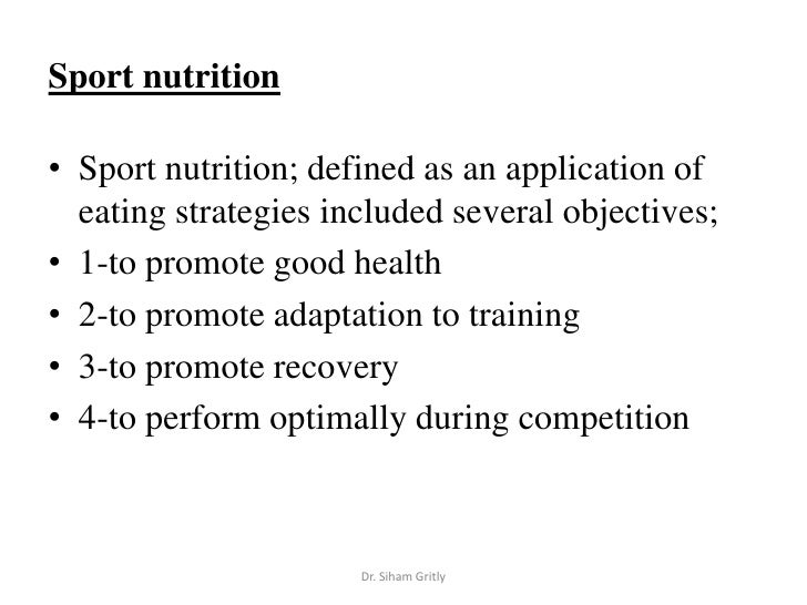 1 sport and fitness nutrition nutrition and fitness