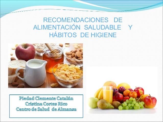 H bitos de alimentaci n saludable e higiene for Normas de higiene personal en la cocina