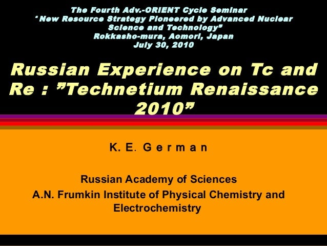 "T he Four th Adv.-ORIENT Cycle Seminar    "" New Resource Strate gy Pioneered by Advanced Nuclear                  Science ..."