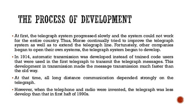 invention of telephone and development The development of all the bits and pieces of the telephone make for interesting reading all by themselves (or perhaps you haven't yet read the other articles in this section), but it is at least as interesting looking over the various inventions that lead up to the telephone—and finding out just how many inventions went into.