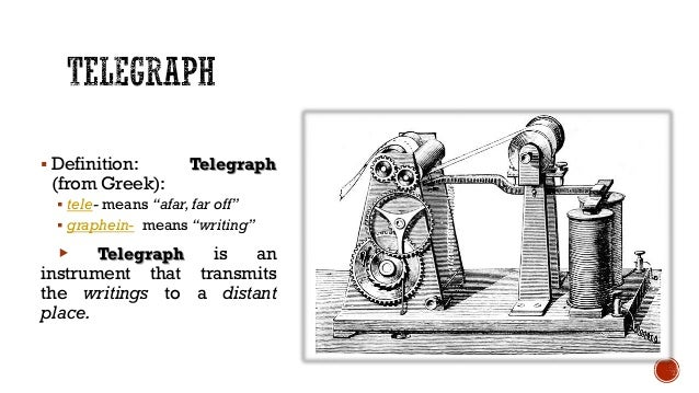 The inventions of telegraph and telephone