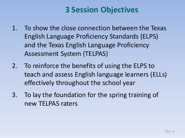 Making The ELPS TELPAS Connection K 12