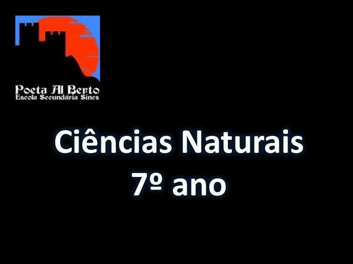 Ciências Naturais     7º ano