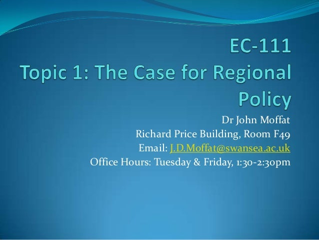 Dr John MoffatRichard Price Building, Room F49Email: J.D.Moffat@swansea.ac.ukOffice Hours: Tuesday & Friday, 1:30-2:30pm