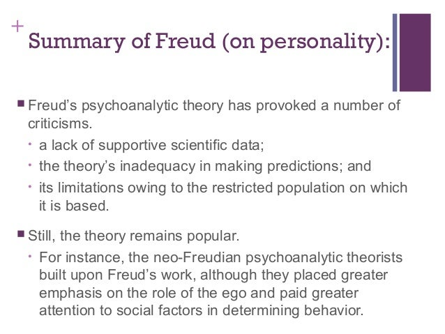 Sigmund freud theory of personality summary
