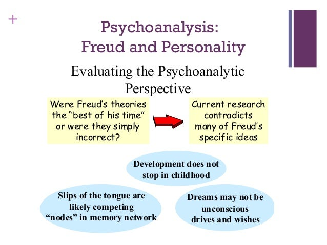 an evaluation of sigmund freuds theory of personality development The main difference between freud and erikson is their unique visions of what drives an individual's development while freud's theory is centered sigmund freud and erik erikson are two of the pioneers of modern psychology and each of them theorized about the development of personality.