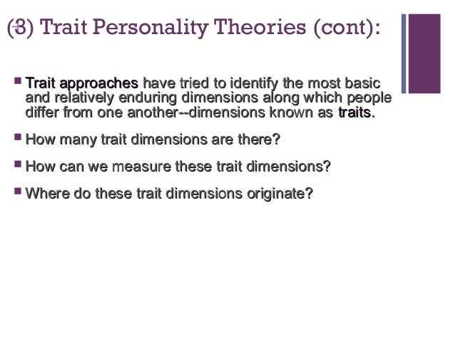 theories on personality Theories of personality: questions and controversies by linda d henman, phd generating explanations for human behavior has been a pastime since the beginning.