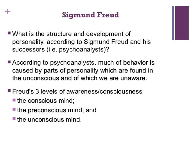 an analysis of sigmund freuds structural theory of the mind Freud's division of the mind but rather separate aspects and elements of the single structure of the mind although it is convenient to say freud's theory of the mind hinges upon the ability of impulses or memories to float from one level to another.