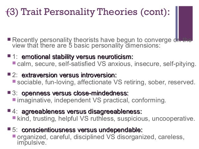 personality perspective Overview of major theories of personality in psychology, including: 1)   perspectivepsychoanalytic perspective of personalityof personality.
