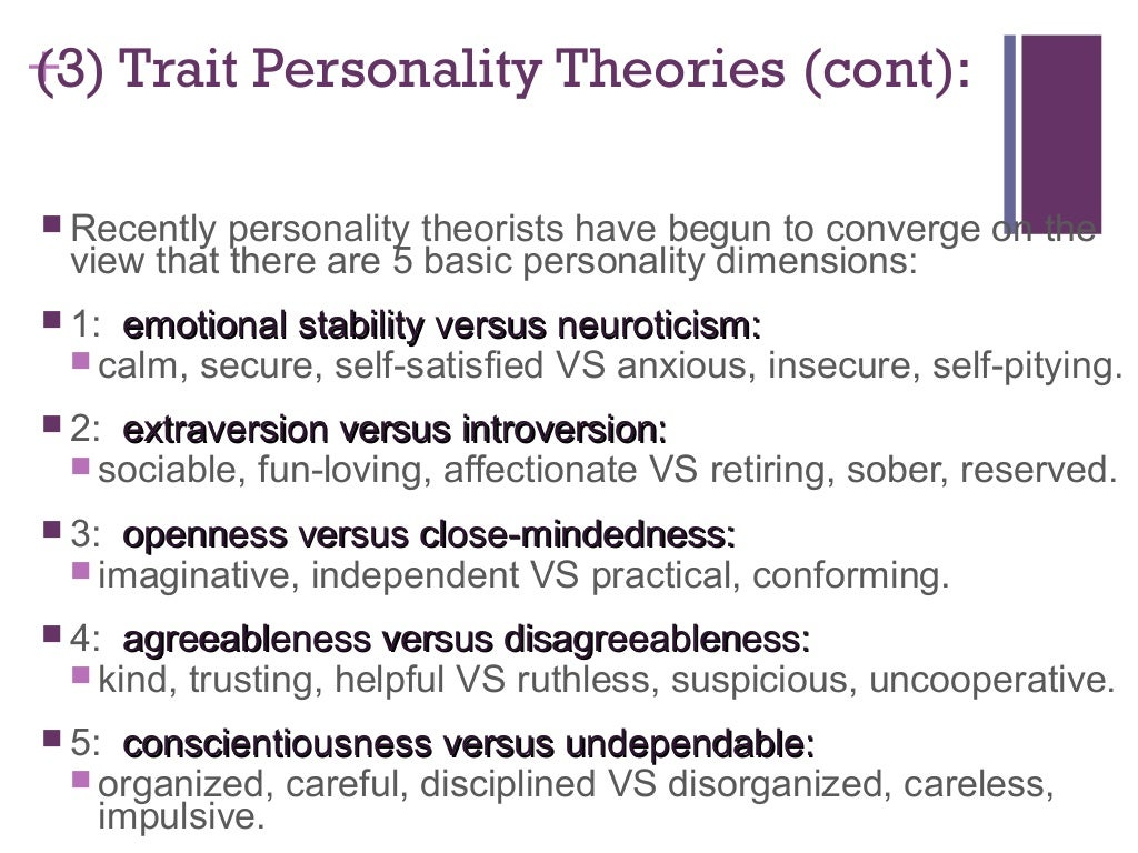 Theories of Personality - Psychologist World