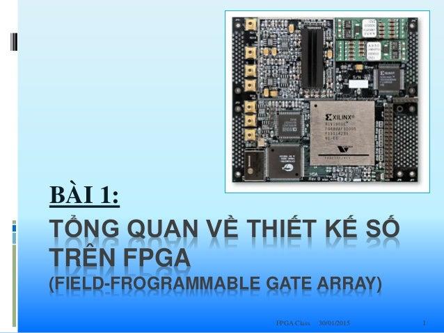 30/01/2015FPGA Class 1 TỔNG QUAN VỀ THIẾT KẾ SỐ TRÊN FPGA (FIELD-FROGRAMMABLE GATE ARRAY) BÀI 1: