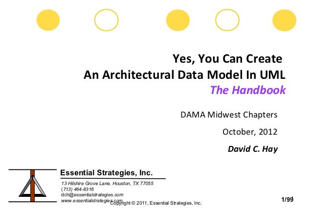 Yes, You Can Create          An Architectural Data Model In UML                                                           ...