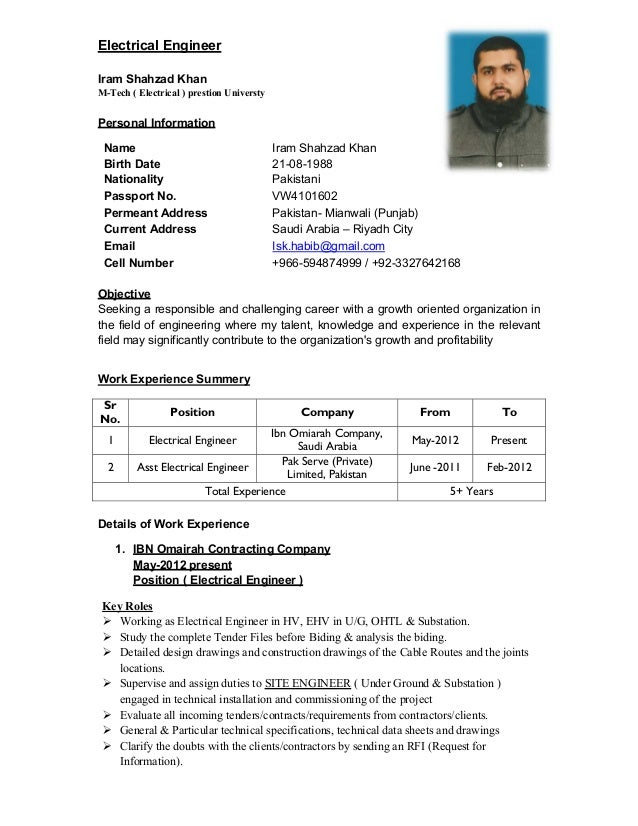 resume electrical engineer power plant resumes electrical