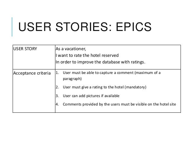 User Stories Explained