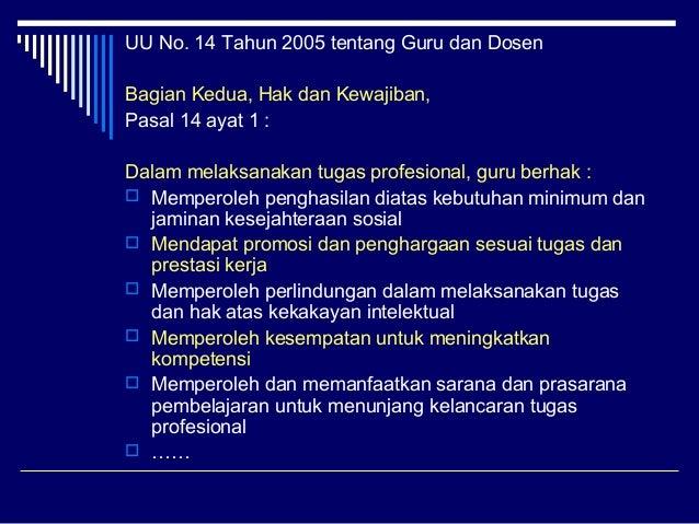 tugas guru menurut uu no 14 tahun 2005