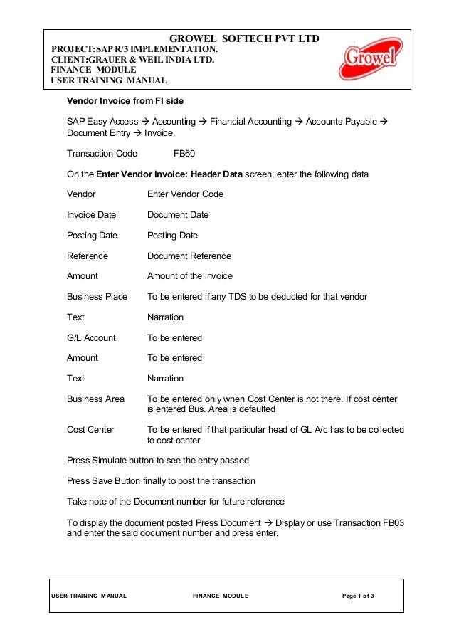 1 vendor invoice credit memo debit memo & jv
