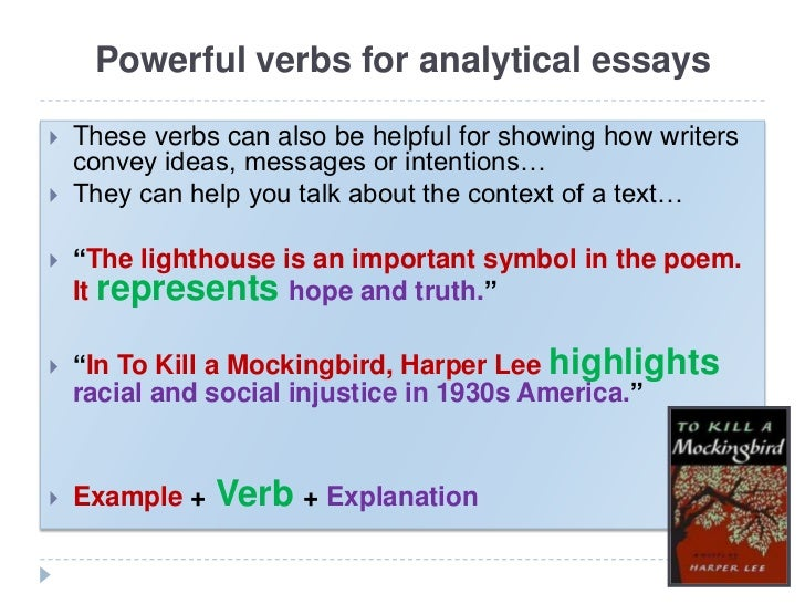 power verbs for essays 14 present-tense verbs the tense of the verb in a sentence reflects the time at which the action is set in historical studies that is, by definition, in the past.