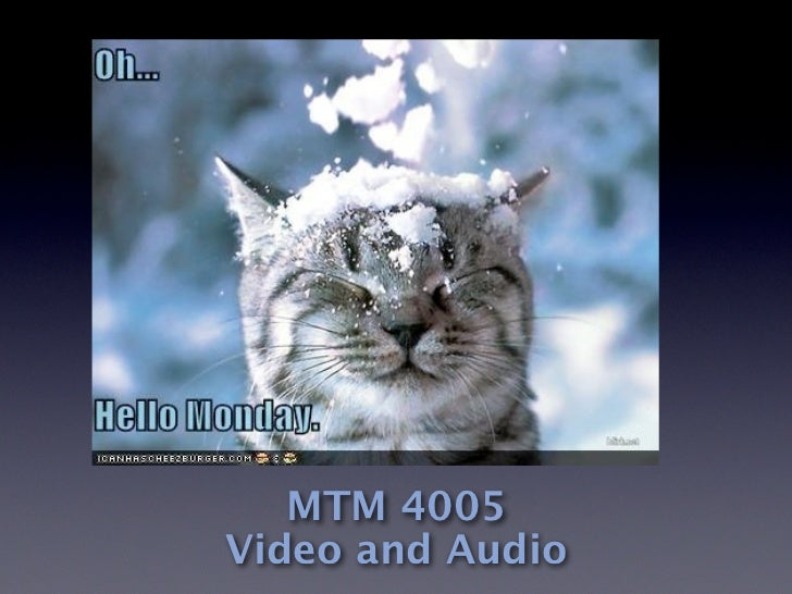 MTM 4005Video and Audio