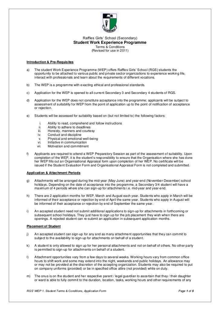 1 wep terms and conditions application form 2011