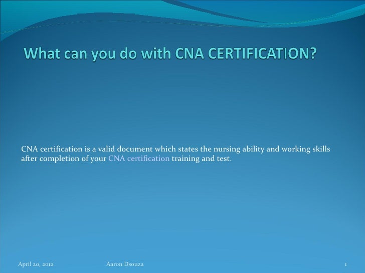 1 What Can You Do With Cna Certification
