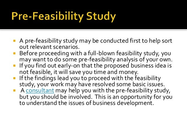 1  what is a feasibility study