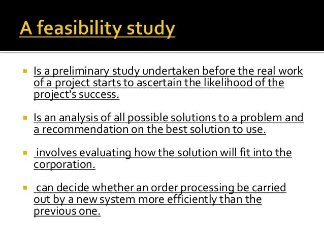 What is a Feasibility Study? - Definition | Meaning | Example