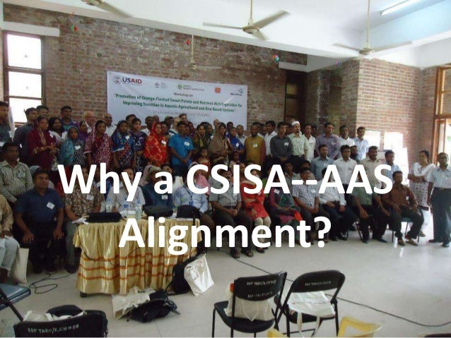 Why a CSISA--AASAlignment?