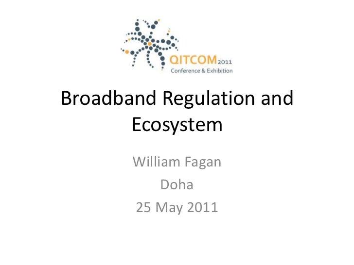 Broadband Regulation and Ecosystem<br />William Fagan<br />Doha<br />25 May 2011<br />