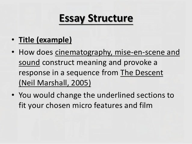 film essay structure