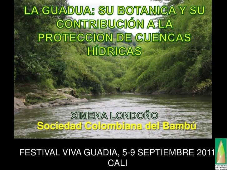 Sociedad Colombiana del BambúFESTIVAL VIVA GUADIA, 5-9 SEPTIEMBRE 2011                  CALI