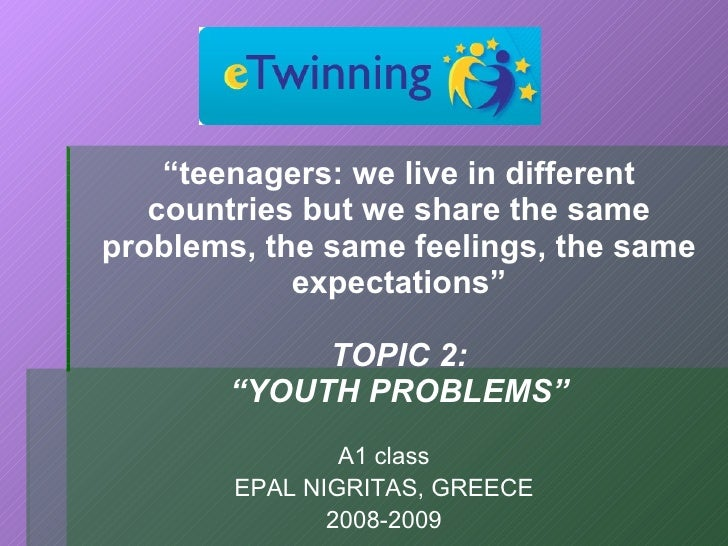 """<ul><li>"""" teenagers: we live in different countries but we share the same problems, the same feelings, the same expectatio..."""