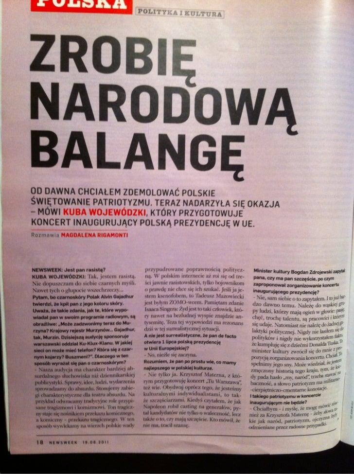 Zrobię narodową balangę - Newsweek 24-2011 (19 czerwca 2011)