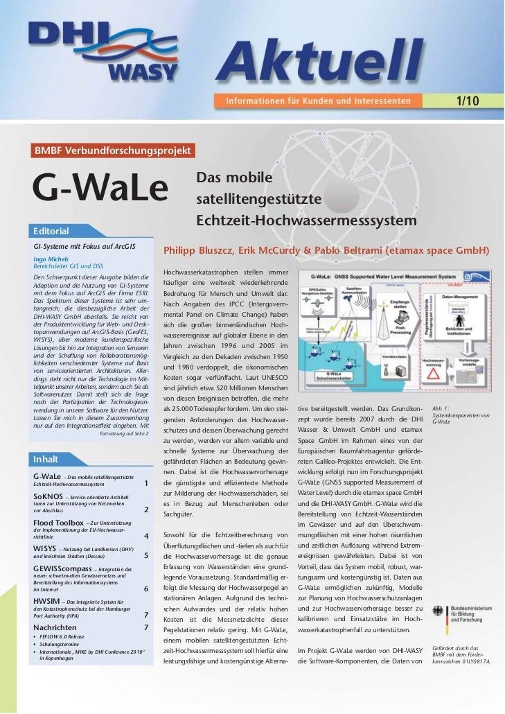 1/10BMBF Verbundforschungsprojekt                                                                    Das mobileG-WaLe     ...