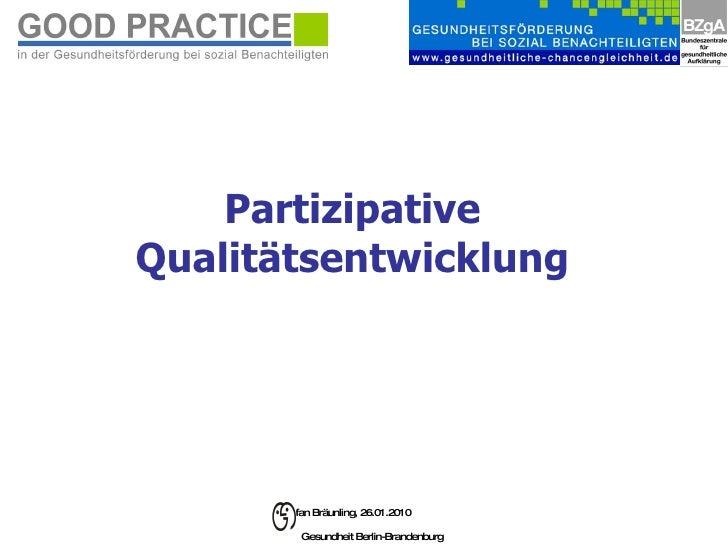 Partizipative Qualitätsentwicklung