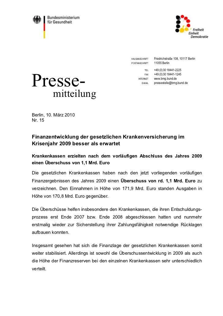 HAUSANSCHRIFT   Friedrichstraße 108, 10117 Berlin                                                 POSTANSCHRIFT   11055 Be...