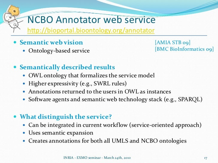 Users do not always know the structure of an ontology's content or how to use it in order to do the annotations themselves
