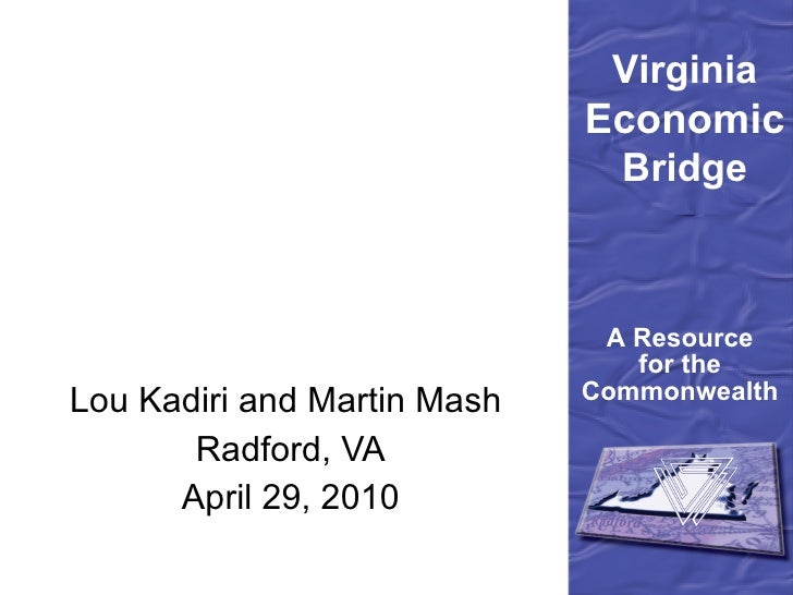 Lou Kadiri and Martin Mash  Radford, VA April 29, 2010