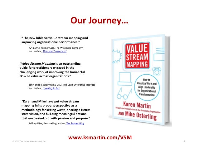 "© 2013 The Karen Martin Group, Inc. 8 ""The new bible for value stream mapping and  improving organizational performance."" ..."