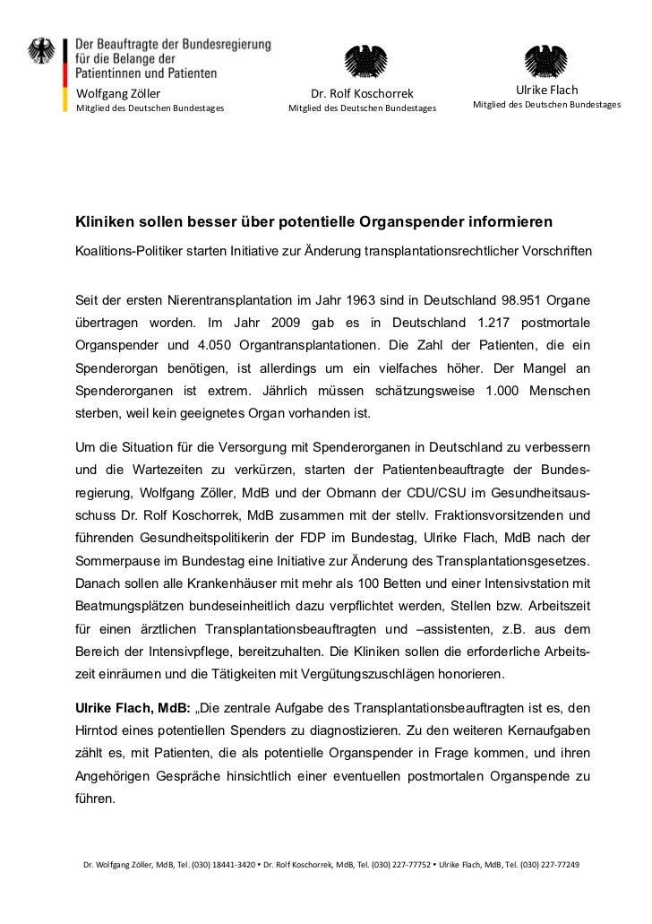 Wolfgang Zöller                                               Dr. Rolf Koschorrek                                    Ulrik...