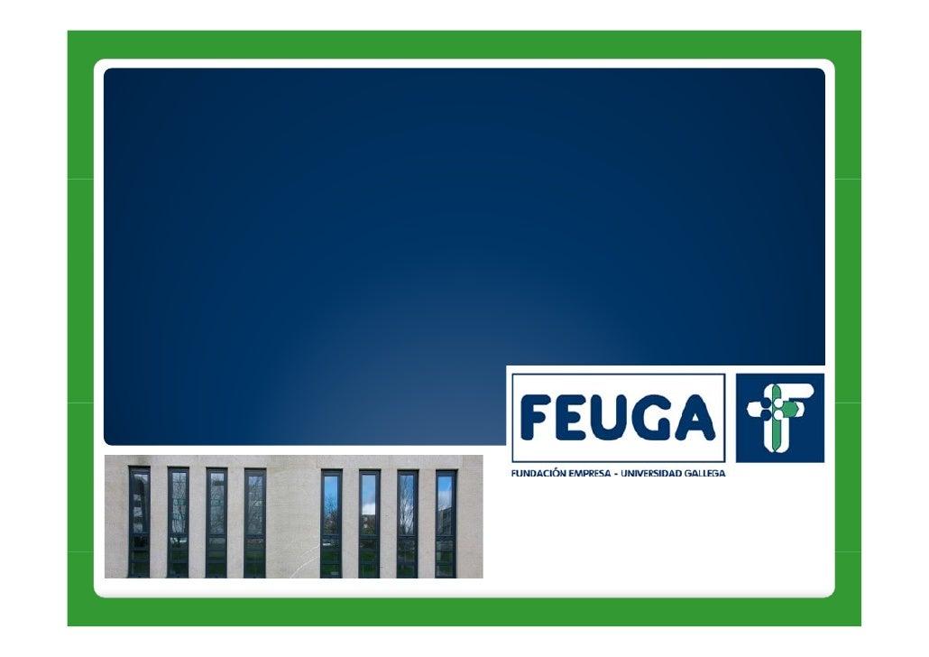 La Fundación Empresa Universidad Gallega (FEUGA) se constituyó en 1982 con cuatro rasgos que la definen:     • Entidad de ...