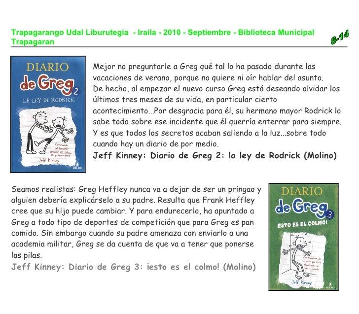 Trapagarango Udal Liburutegia - Iraila - 2010 - Septiembre - Biblioteca Municipal Trapagaran                        Mejor ...
