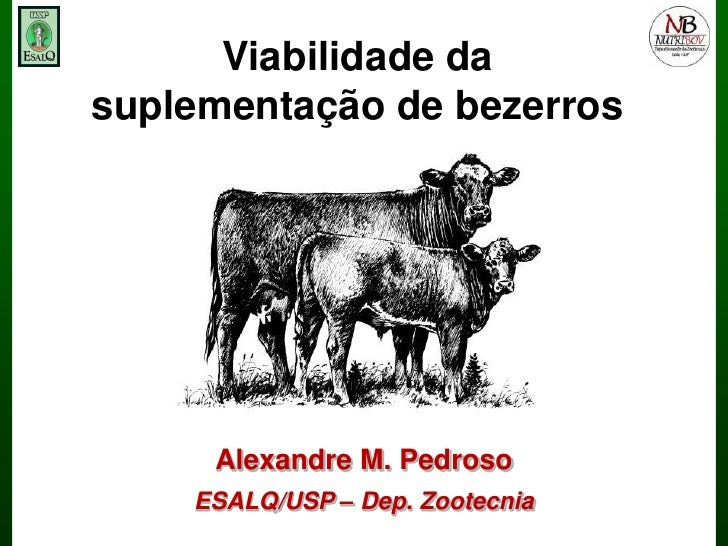 Viabilidade da suplementação de bezerros<br />Alexandre M. Pedroso<br />ESALQ/USP – Dep. Zootecnia<br />
