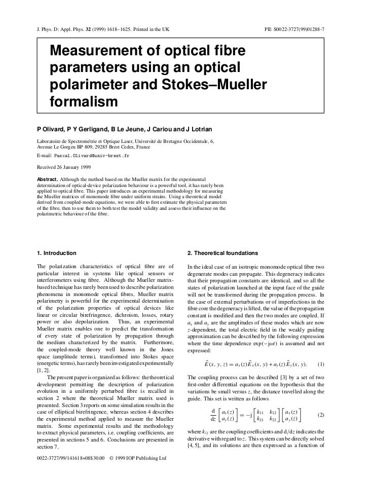 J. Phys. D: Appl. Phys. 32 (1999) 1618–1625. Printed in the UK                                                PII: S0022-3...