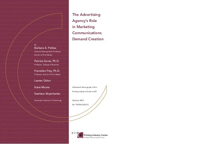 The Advertising                                    Agency's Role                                    in Marketing          ...