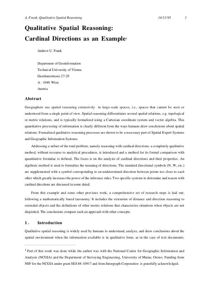 A. Frank: Qualitative Spatial Reasoning                                                         14/11/95               1Qu...