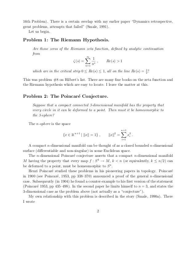 Riemann hypothesis