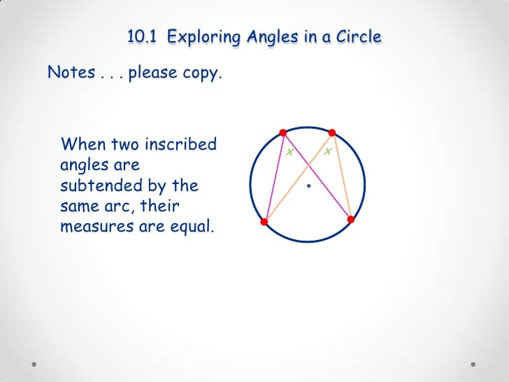 measure of central angle and arc relationship